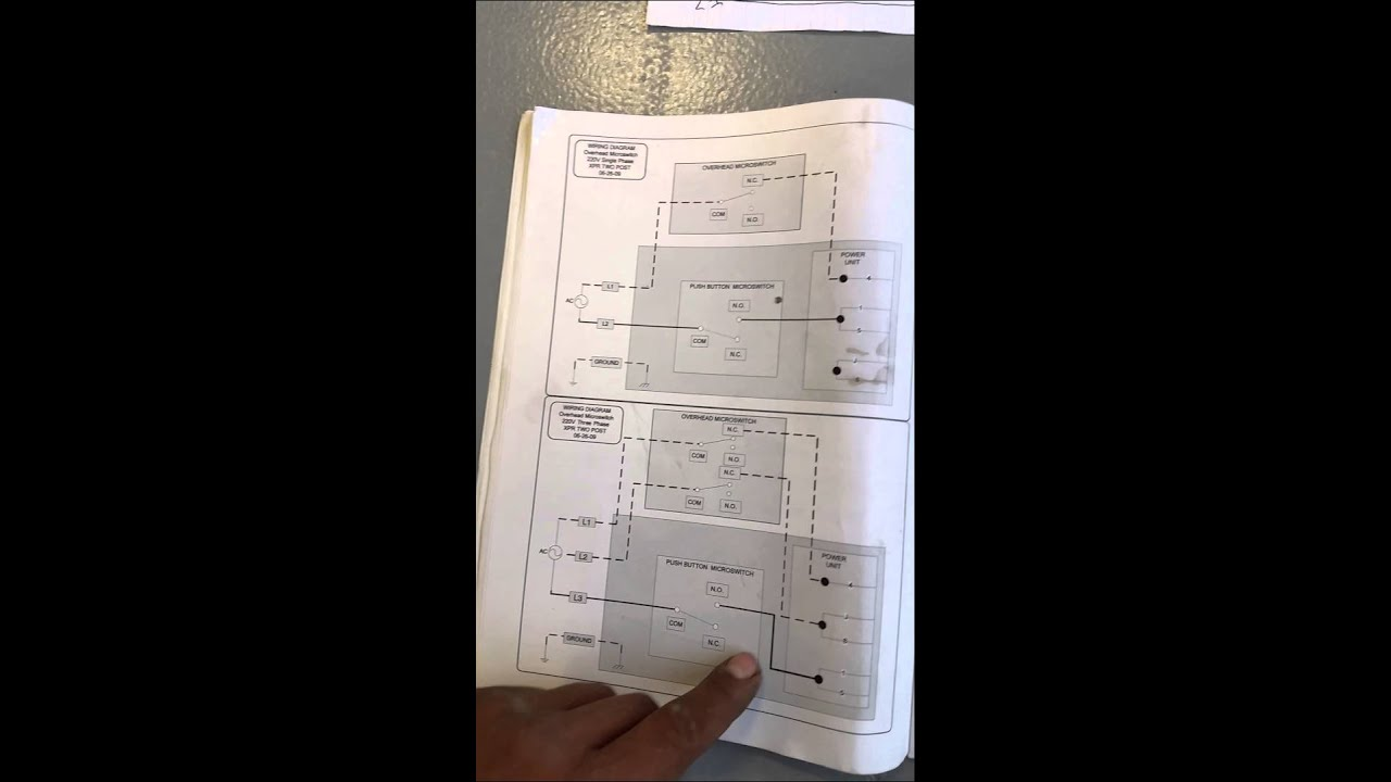 220v motor wiring diagram 2004 dodge ram fuse box a bend pak lift - youtube