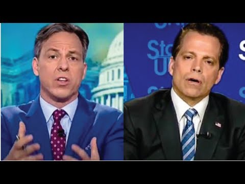 SCARAMUCCI OFFERS JAKE TAPPER A BOX OF KLEENEX, SUDDENLY THE INTERVIEW GOES OFF THE RAILS!