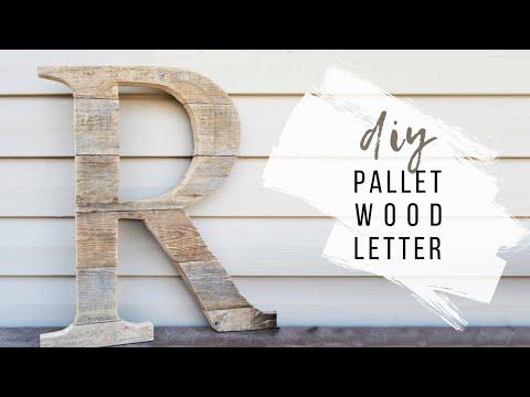 DIY Pallet Wood Letter | Rustic Initial