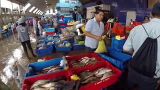 Squid Prawns Clams Crayfish Lima Central Wholesale Fish Market, Terminal Pesquero, Lima, Peru