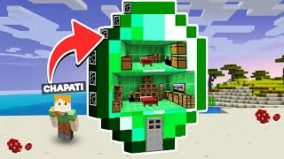 LOGGY DESTROYED MY MODERN EMERALD HOUSE | MINECRAFT