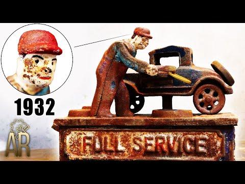 Restoration Of Vintage Mechanical Coin Bank - FULL SERVICE 1932