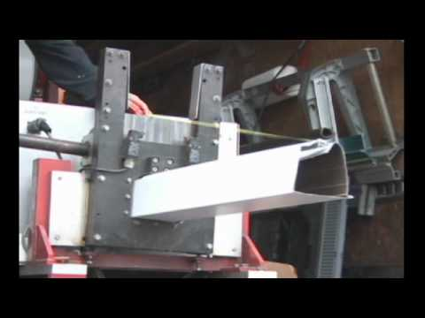 Leafguard Gutter Formed By Seamless Gutter Machine Youtube