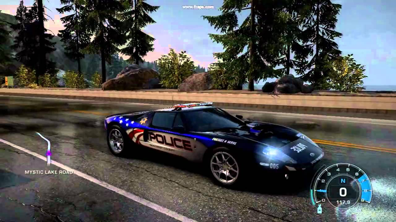 Need For Speed Hot Pursuit   Pursuit Ford Gt Police Car Going Around Video Hd