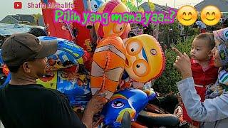 Balita lucu beli balon karakter | Balon lucu | Balon warna warni