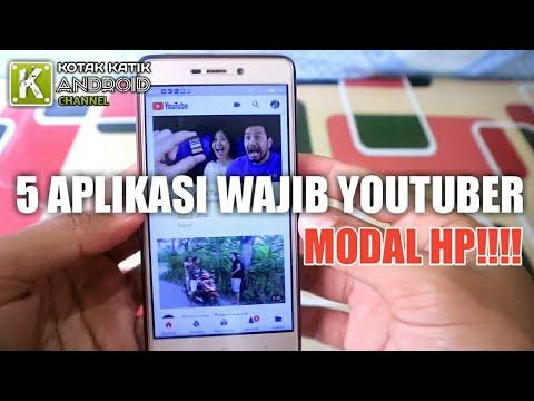 5 Aplikasi Wajib Untuk YouTuber Pemula Modal HP Doankk!!