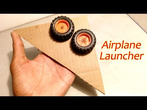 How To Make Electric Paper Airplane Launcher Easy Way