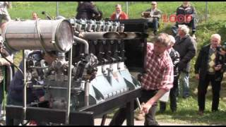 Junkers L5 aircraft engine, start-up