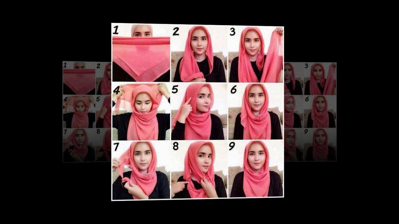 Cara Memakai Jilbab Segi Empat YouTube