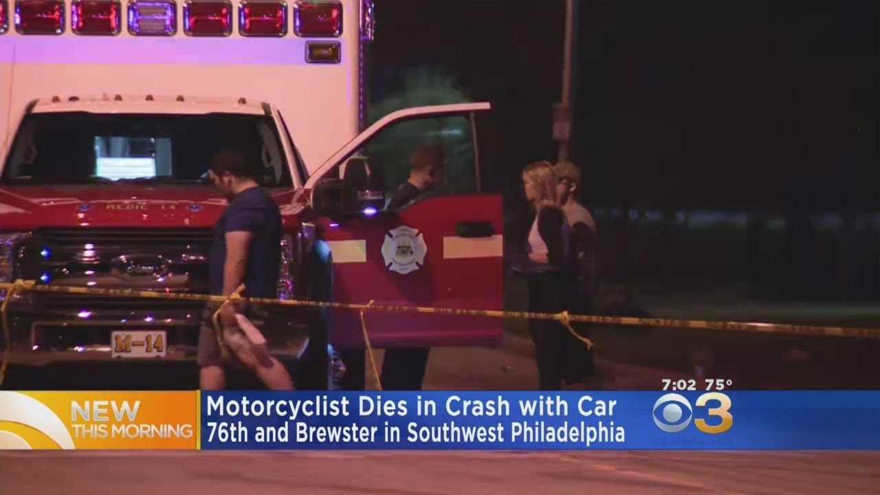 Motorcyclist Dies In Car Crash In Southwest Philadelphia