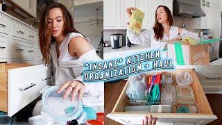 insane kitchen organization + haul!! *container store, amazon, ect!
