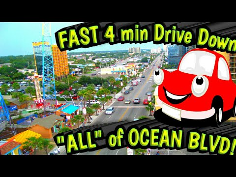 "Driving TOUR of Ocean Blvd MYRTLE BEACH, Sc VIDEO ""The Boulevard"""