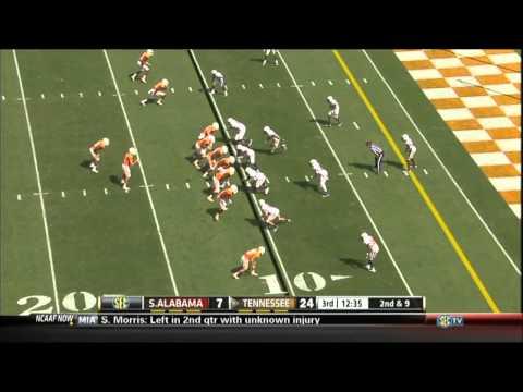 09/28/2013 South Alabama vs Tennessee Football Highlights