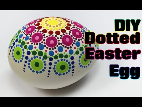 Dotted Rainbow Easter Egg Tutorial #1 | Easter Eggs DIY & Crafts