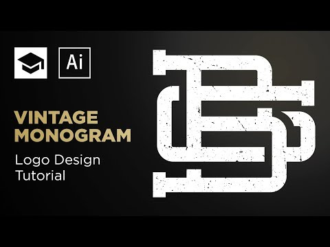 How To Design A Vintage Monogram | Adobe Illustrator Tutorial