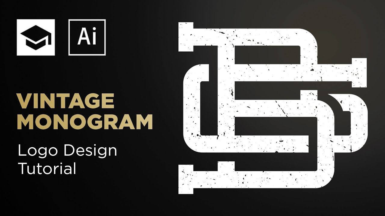 How To Design A Vintage Monogram Adobe Illustrator Tutorial Youtube