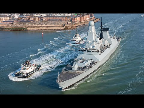 The UK Carrier Strike Group sails