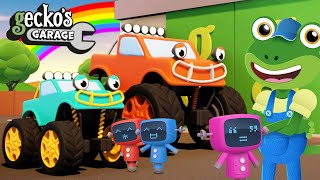 Max Jr. Visits Gecko's Garage|Monster Trucks For Kids|Learning Videos For Toddlers|Funny Cartoon