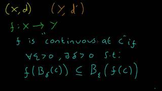 Topology #6 Continuity of Functions Between Metric Spaces (Part 1) Thumbnail