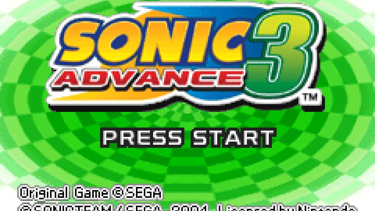 Sonic Advance 3 playthrough ~Longplay~