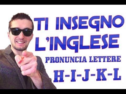 PRONUNCIA LETTERE (H - I - J - K - L) - LEZIONE 4 DEL MIGLIOR CORSO INGLESE ONLINE