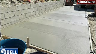 How to Build a Retaİning Wall and Pour a Concrete Slab