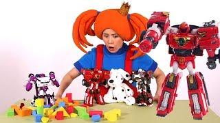 Видео для детей - Поиграйка с Царевной - Злой Тобот - Мультики с игрушками