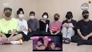BTS Reaction BLACKPINK - Lovesick Girls M/V (FANMADE)