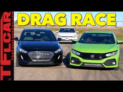 Too Close To Call Honda Civic Si vs Hyundai Elantra GT vs VW Golf GTI Drag Race
