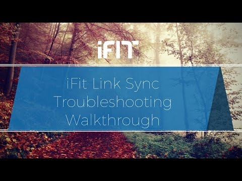iFit Link Sync Troubleshooting - YouTube