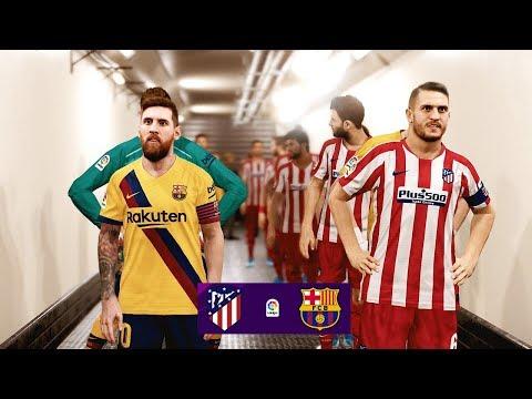 Atletico Madrid Vs Barcelona - La Liga 1 Dec 2019 Gameplay