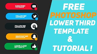 Make Minimal Lower Thirds In Photoshop And Animate Like A Pro
