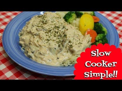 Slow Cooker Creamy Italian Chicken ~ Slow Cooker Recipe ~ Crock Pot Alfredo ~ Noreen's Kitchen