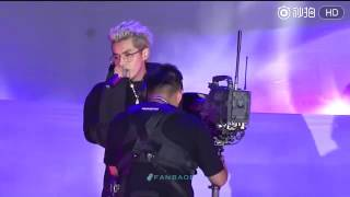 160909 fancam kris wu singing from now on at bazaar charity night