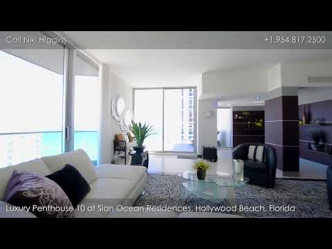 Luxury Penthouse 10 at Sian Ocean Residences, 4001 South Ocean Drive, Hollywood, Florida, 33019