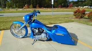 carlos s 95 road king 26 inch wheel custom bagger custom cycles ltd street glide