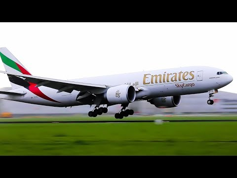 B777 21 Great landings in gusty winds, KLM, Emirates, Qatar, Korean, United, Etihad, Turkish