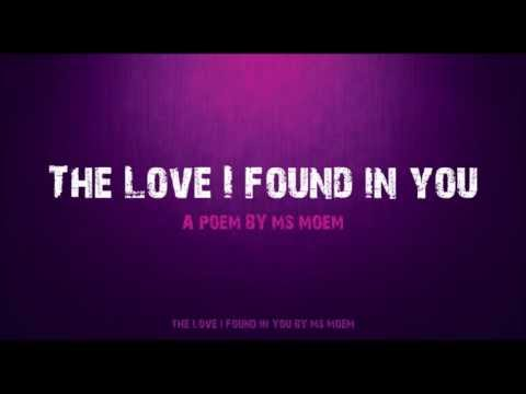 Wedding Poem | The Love I Found In You | Sweet Love Poem