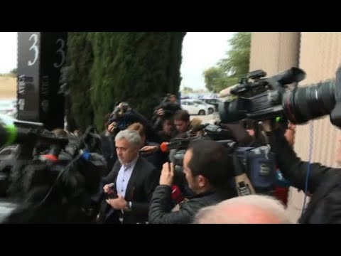 Mourinho arrives at Madrid court for hearing on tax fraud probe