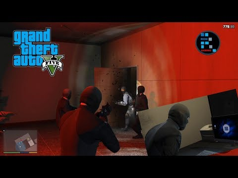 GRAND THEFT AUTO V | WE DESTROYED THE FIB BUILDING AND DOWNLOADED ALL THE DATA