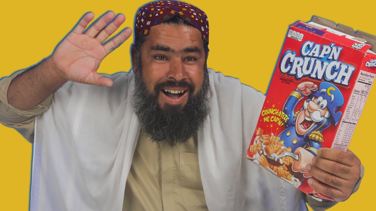 Tribal People Try Cap n Crunch Cereal For The First Time