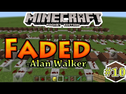 Faded[Alan Walker] - Noteblock Song#10 - Minecraft PE(Pocket Edition)[Bahasa Indonesia]