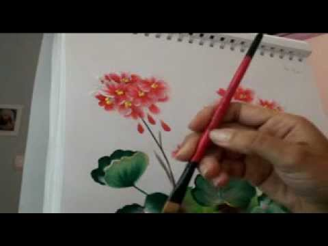 Aprender a pintar flores muy f cil muy r pido con la - Aprender a pintar en madera ...