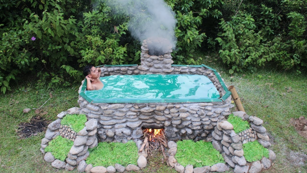 Jacuzzi Pool Youtube Building Hot Tub Spa Without Using Modern Technology