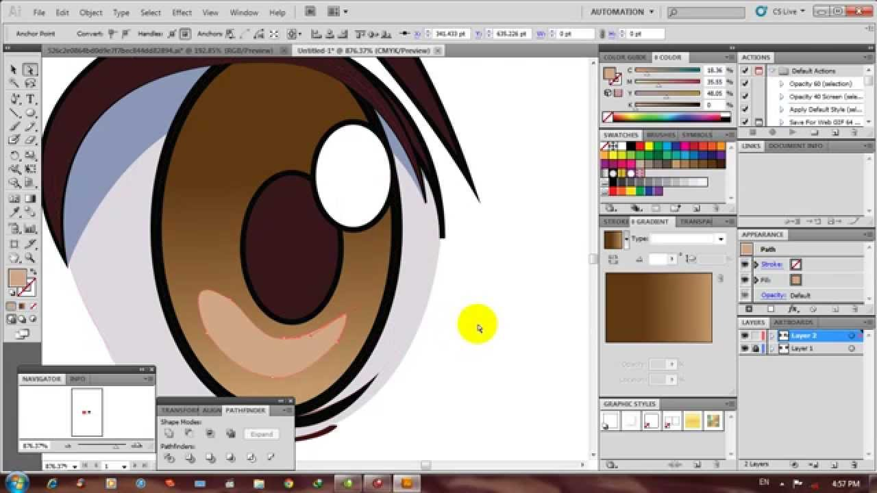 Video Tutorial Illustrator How To Make Eyes Anime Style Membuat Mata