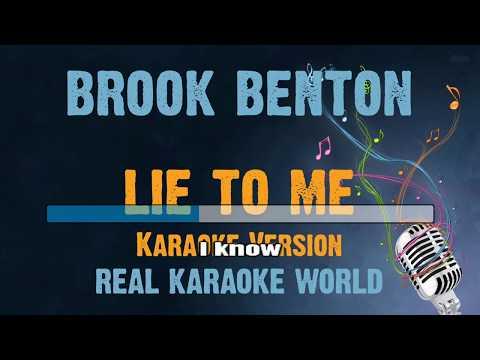 Lie to me KARAOKE Brook Benton