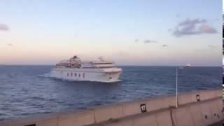 Choque de un #ferry en #LasPalmas de #GranCanaria