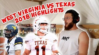 Rugby Player Reacts to WEST VIRGINIA vs TEXAS 2018 College Football Highlights!