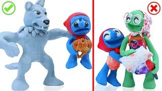 TINY MEETS GRAY WOLF 💖 CLAY MIXER Animation Cartoons Play Doh