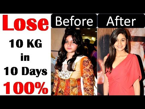 Alia Bhatt Diet Plan For Weight Loss | How to Lose Weight Fast 10kg in 10 Days | Celebrity Diet